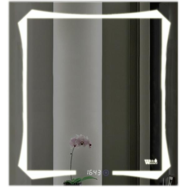 Зеркало WeltWasser Otto 60x80 с подсветкой и динамиками Хром зеркало weltwasser lanzo 80x60 с подсветкой с динамиками и многофункциональной системой хром