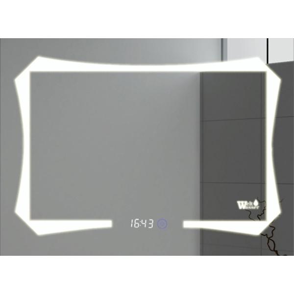 Зеркало WeltWasser Otto 100x80 с подсветкой и динамиками Хром зеркало weltwasser lanzo 80x60 с подсветкой с динамиками и многофункциональной системой хром