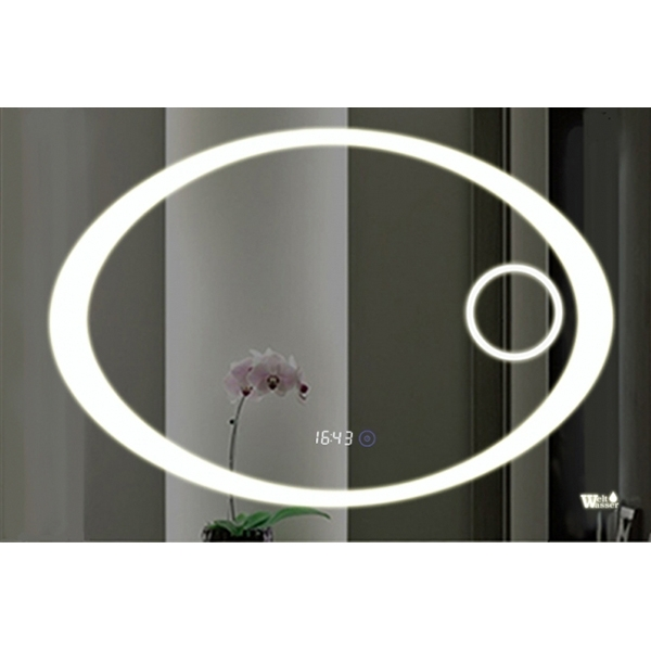 Зеркало WeltWasser Gabi 80x60 с подсветкой Хром зеркало weltwasser lanzo 80x60 с подсветкой с динамиками и многофункциональной системой хром