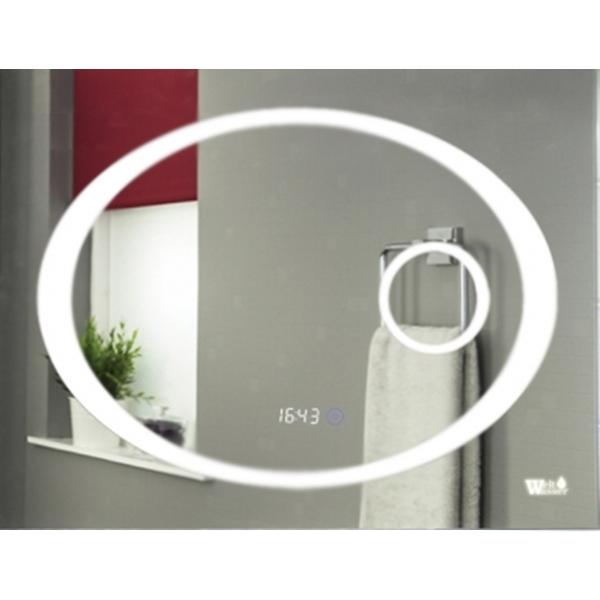 Зеркало WeltWasser Gabi 100x80 с подсветкой и динамиками Хром зеркало weltwasser lanzo 80x60 с подсветкой с динамиками и многофункциональной системой хром