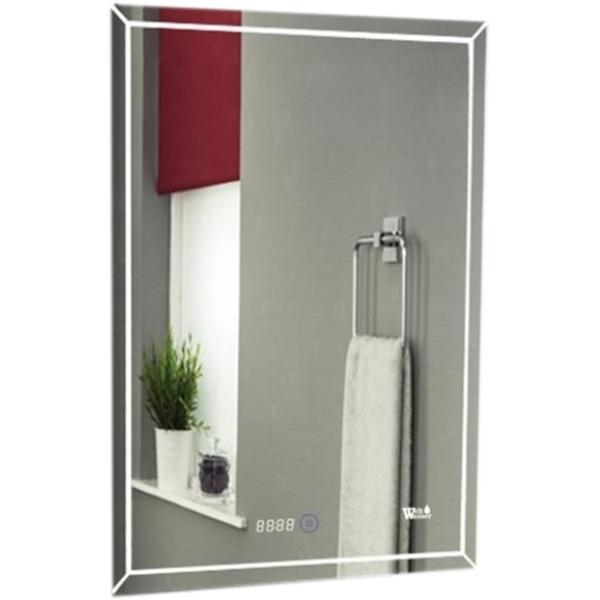 Зеркало WeltWasser Lanzo 60x80 с подсветкой Хром зеркало weltwasser lanzo 80x60 с подсветкой с динамиками и многофункциональной системой хром