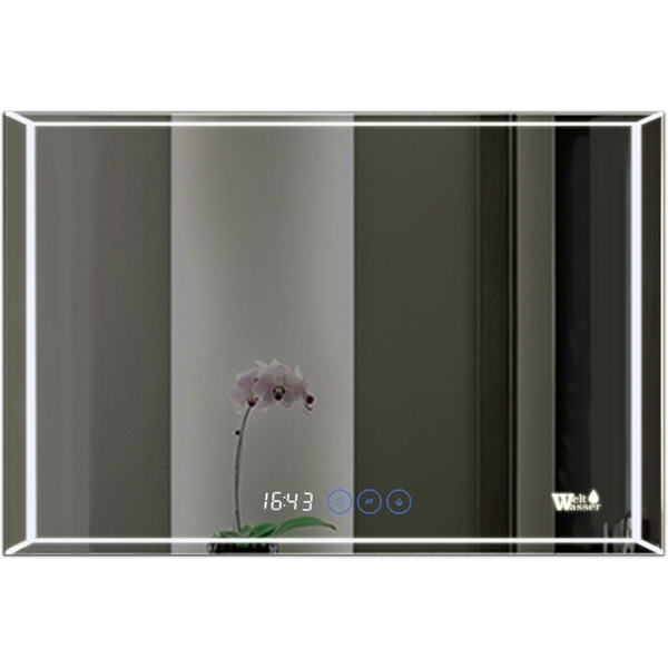Зеркало WeltWasser Lanzo 80x60 с подсветкой и динамиками Хром зеркало weltwasser lanzo 80x60 с подсветкой с динамиками и многофункциональной системой хром