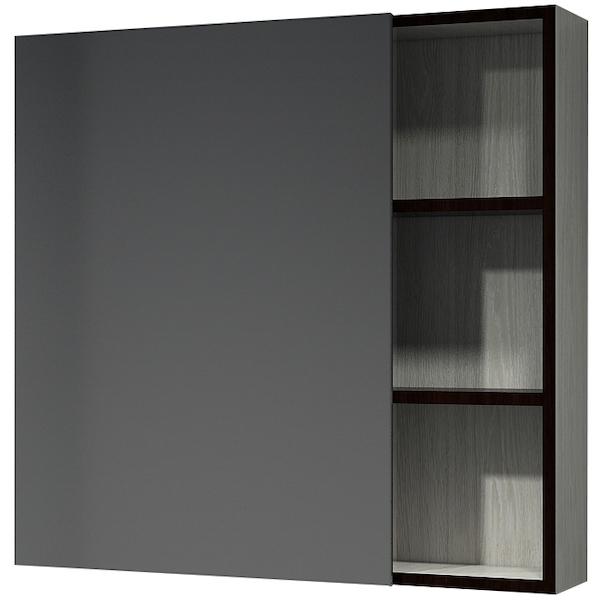 Зеркальный шкаф Какса-А Винтер 75 003794 Бежево-белый зеркальный шкаф какса а сити 105 004418 подвесной серый гранит