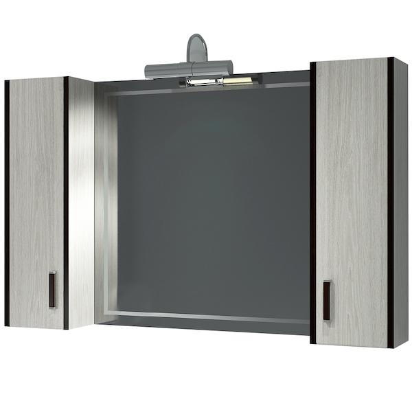 Зеркальный шкаф Какса-А Винтер 105 003778 Бежево-белый зеркальный шкаф какса а сити 105 004418 подвесной серый гранит