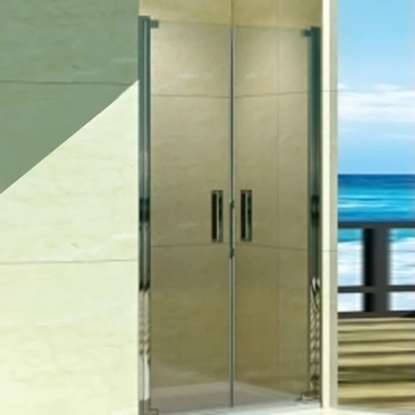Душевая дверь в нишу WeltWasser WW600 K2 100 10000002735 профиль Хром стекло прозрачное