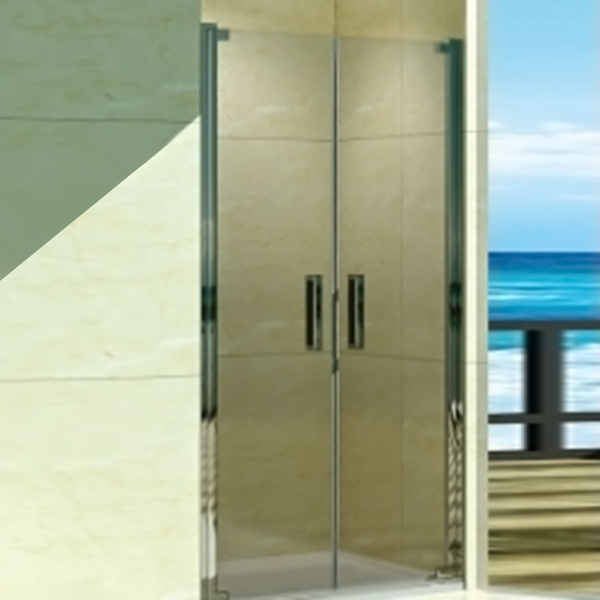 Душевая дверь в нишу WeltWasser WW600 K2 120 10000002736 профиль Хром стекло прозрачное