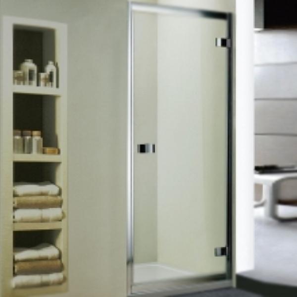 Душевая дверь в нишу WeltWasser WW800 K1 80 10000002728 профиль Хром стекло прозрачное