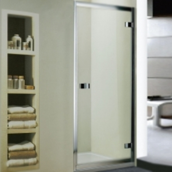 Душевая дверь в нишу WeltWasser WW800 K1 100 10000002730 профиль Хром стекло прозрачное