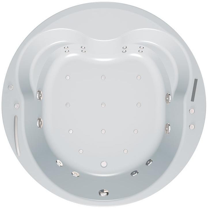 Opera 180x180 Elite AirВанны<br>Акриловая ванна Kolpa San Opera 180x180.<br>Изящная круглая ванна с плавными линиями привнесет в вашу ванную комнату атмосферу французского будуара.<br>Ванна из литого акрила, армированная. Отличается прочностью и имеет гладкую поверхность без пор, что препятствует размножению бактерий и облегчает уход за ванной.<br>Размер: 180x180x71 см.<br>Конструкция: на каркасе.<br>Система гидромассажа:<br>8 форсунок Maxi-Jet с функцией пульсирующего режима.<br>Аэромассаж: 10 форсунок Aero-Jet с функцией амплитудного режима.<br>Сенсорное управление.<br>Защита от сухого пуска.<br>Регулятор подачи воздуха в гидросистему.<br>Гидромассажная помпа 1,25 кВт.<br>Аэрокомпрессор 0,8 кВт.<br>Особенности: <br>Усиленный каркас.<br>Ванна имеет увеличенную глубину, что позволяет с комфортом расположиться одному или двум людям.<br>Безупречное качество, подтвержденное европейским сертификатом.<br>В комплекте поставки: ванна с каркасом, слив-перелив click-clack.<br>