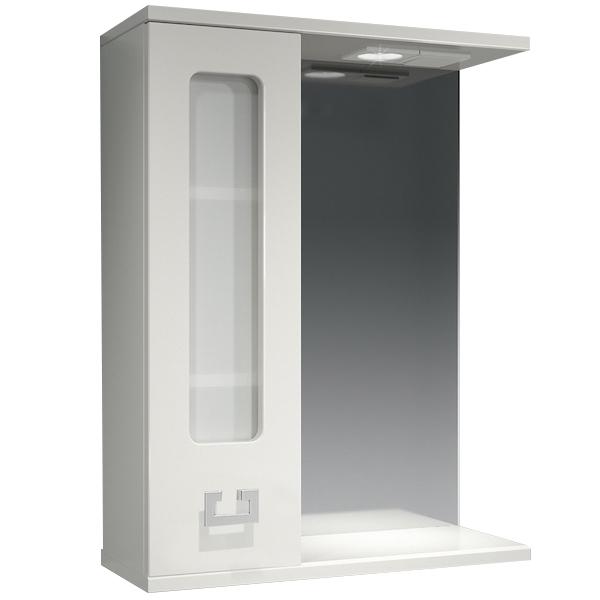 Зеркальный шкаф Какса-А Витраж 55 L 003238 с подсветкой Белый зеркальный шкаф какса а витраж 62 l 003314 с подсветкой белый