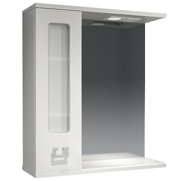 Зеркальный шкаф Какса-А Витраж 62 L 003314 с подсветкой Белый зеркальный шкаф какса а витраж 62 l 003314 с подсветкой белый