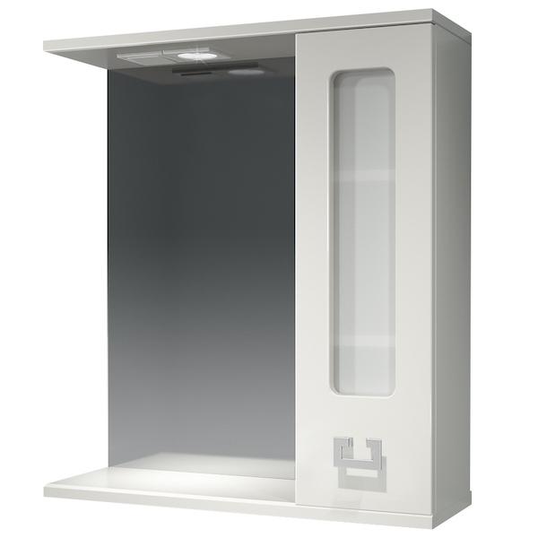 Зеркальный шкаф Какса-А Витраж 62 R 003315 с подсветкой Белый