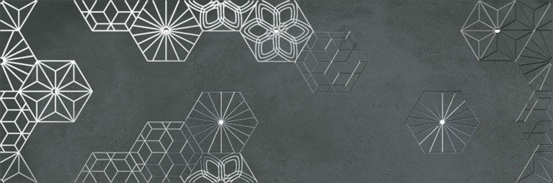 Керамический декор Ibero Cromat-One Debod Carbon B 25х75 см