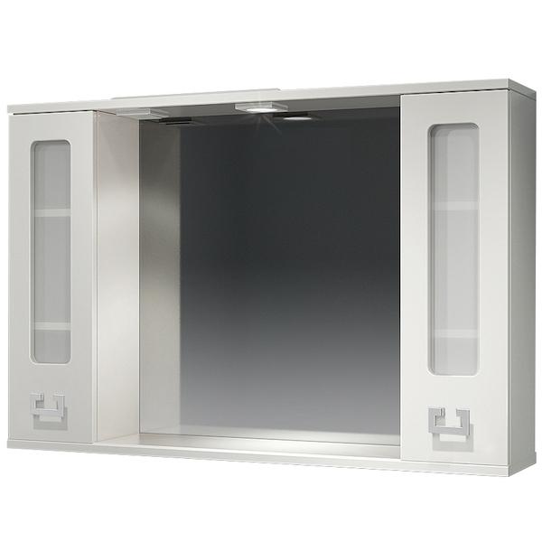 Зеркальный шкаф Какса-А Витраж 105 003376 с подсветкой Белый зеркальный шкаф какса а витраж 62 l 003314 с подсветкой белый