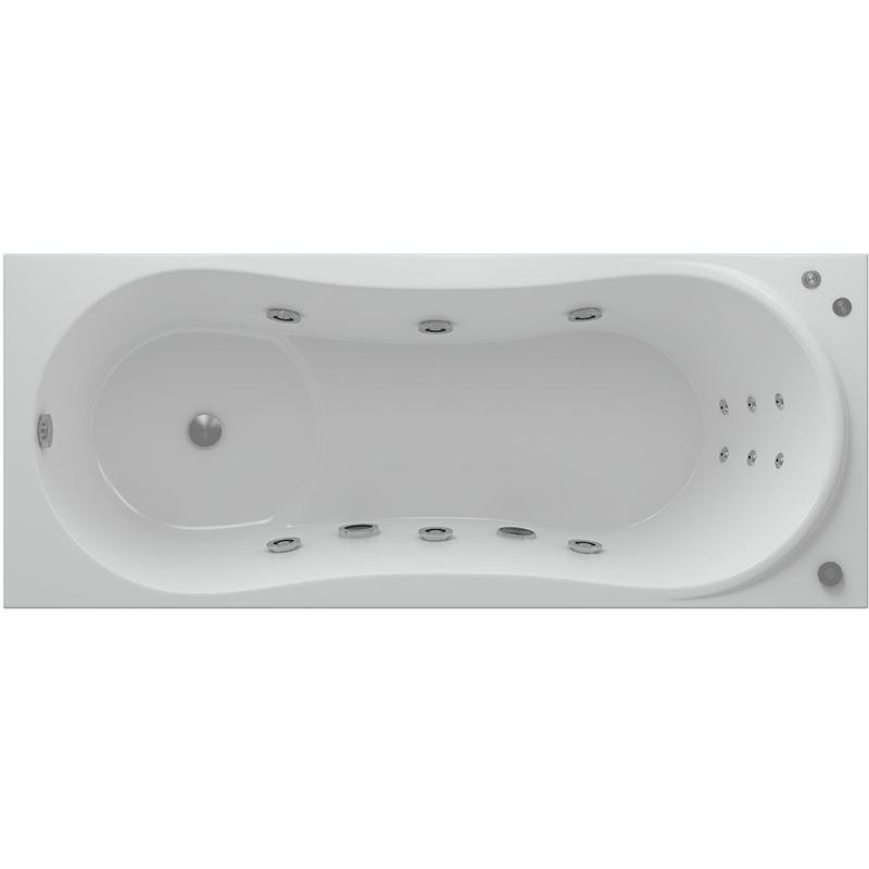 Акриловая ванна Акватек Афродита 170x70 с гидромассажем плоские форсунки Бронза акриловая ванна акватек мелисса 180х95 с гидромассажем плоские форсунки бронза