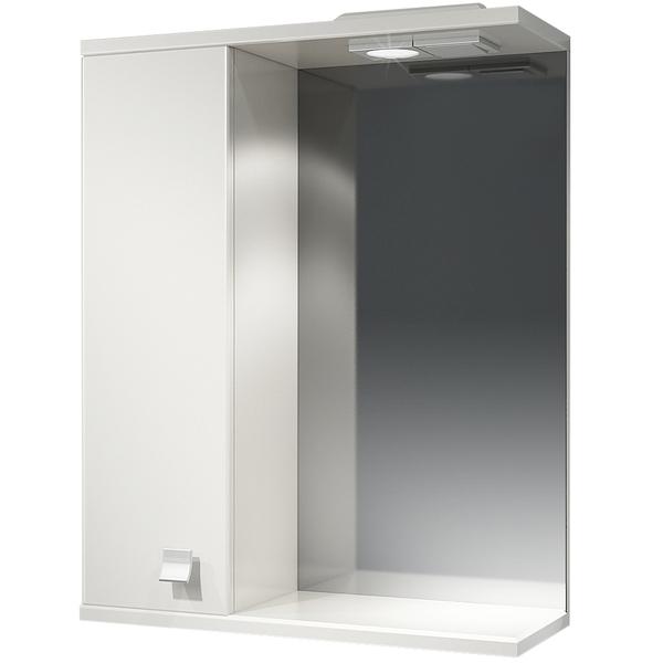 Зеркальный шкаф Какса-А Домино 55 L 003001 с подсветкой Белый зеркальный шкаф какса а астра 55 l 001838 с подсветкой белый