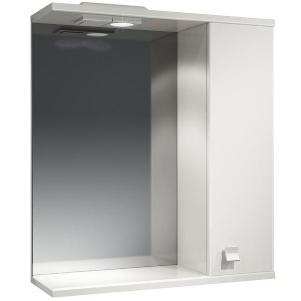 Зеркальный шкаф Какса-А Домино 62 R 003313 с подсветкой Белый зеркальный шкаф какса а астра 55 r 001837 с подсветкой белый