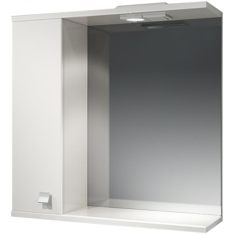 Зеркальный шкаф Какса-А Домино 70 L 003002 с подсветкой Белый зеркальный шкаф какса а астра 55 l 001838 с подсветкой белый