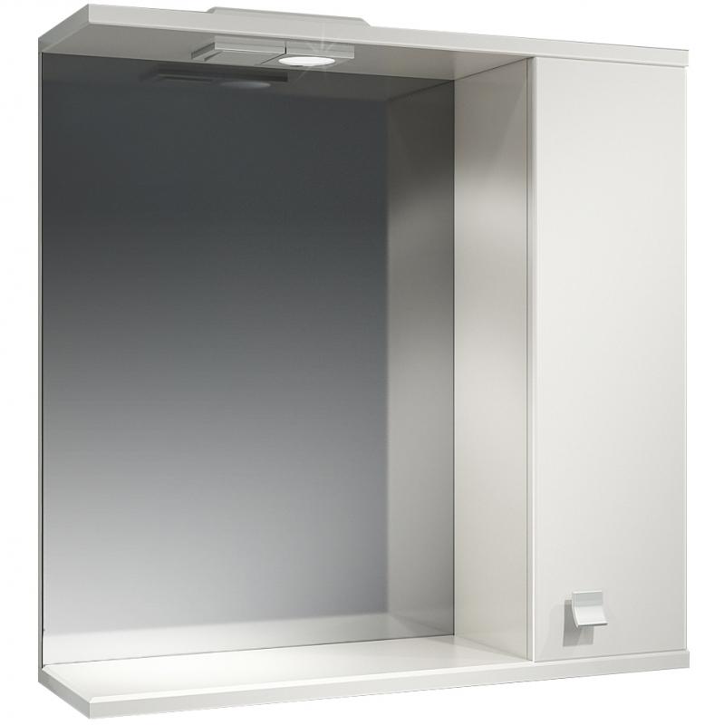 Зеркальный шкаф Какса-А Домино 70 R 003195 с подсветкой Белый зеркальный шкаф какса а астра 55 r 001837 с подсветкой белый