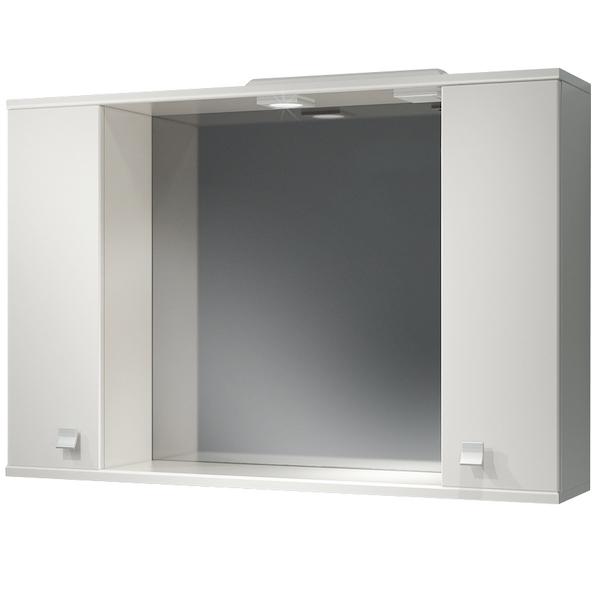 Зеркальный шкаф Какса-А Домино 105 003003 с подсветкой Белый зеркальный шкаф какса а домино 62 l 003312 с подсветкой белый