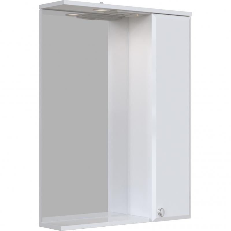 Зеркальный шкаф San Star Селена 60 с подсветкой Белый зеркальный шкаф san star селена 80 с подсветкой белый