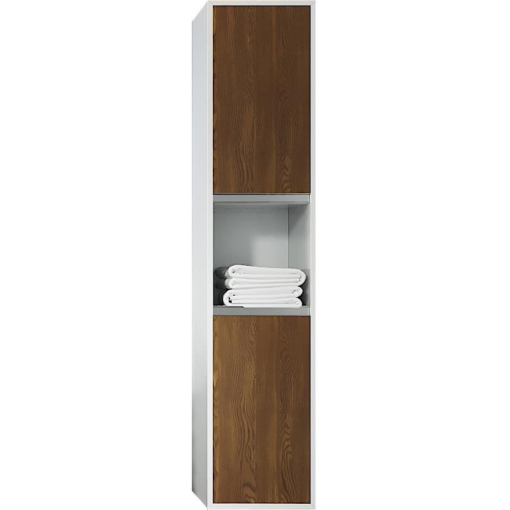 Шкаф пенал SanVit Контур 32 с фактурой под дерево горизонтальные ручки подвесной Венге шкаф пенал sanvit сольвейг 30 с фактурой под дерево венге