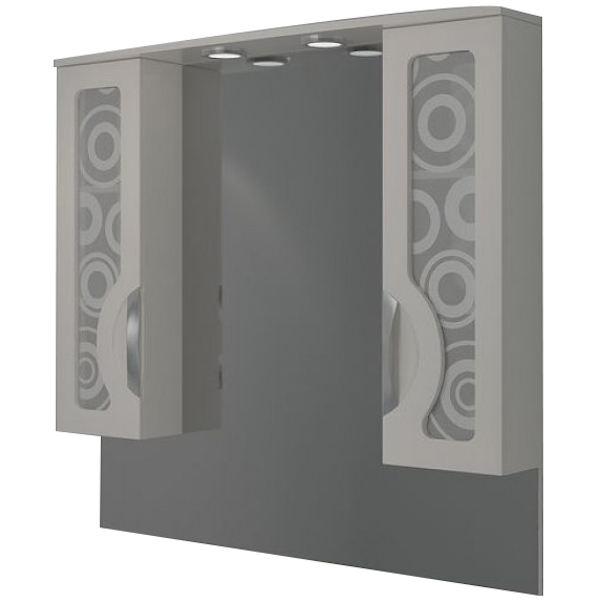 Зеркальный шкаф Какса-А Каприз Зеркальный 105 004296 с подсветкой Белый зеркальный шкаф edelform nota 105 с подсветкой серый глянец