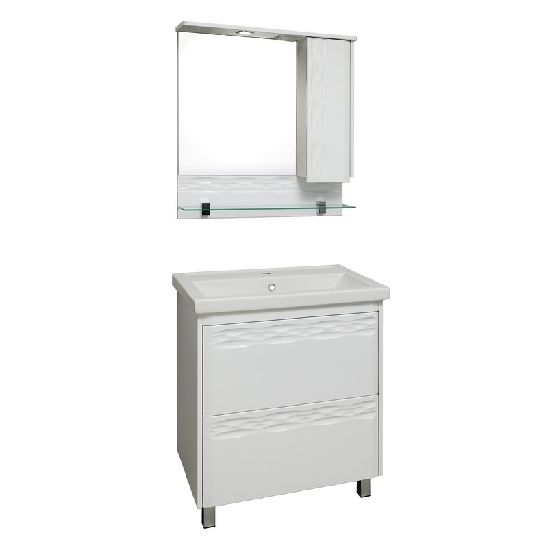 Мебель для ванной Runo Вега 70 Белая