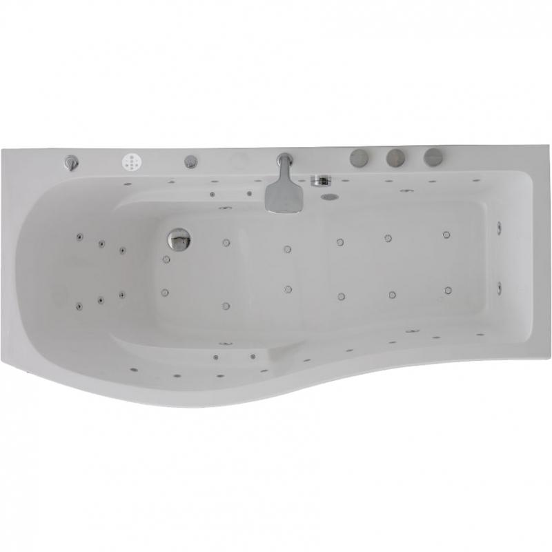 Акриловая ванна SSWW A1901 CGSP 180х85 L с гидромассажем