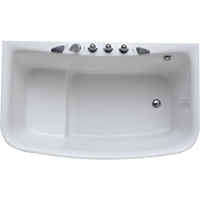 Акриловая ванна SSWW M610A 128х75 L без гидромассажа ванна ssww pa4104 акрил угловая
