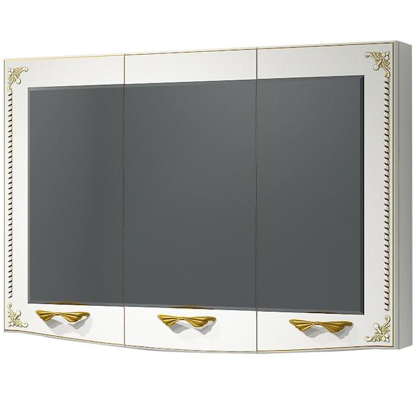 Зеркальный шкаф Какса-А Классик-Д 105 003970 Белый Золото зеркальный шкаф какса а сити 105 004418 подвесной серый гранит