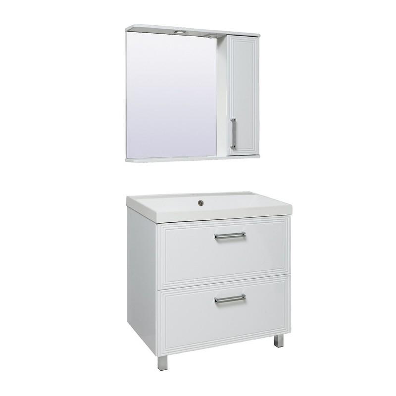 Мебель для ванной Runo Олимпия 80 Белая