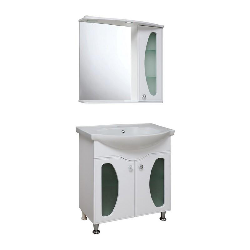 Мебель для ванной Runo Линда Люкс 75 Белая