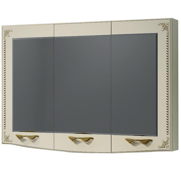 Зеркальный шкаф Какса-А Классик-Д 105 004280 Бежевый Золото зеркальный шкаф какса а сити 105 004418 подвесной серый гранит
