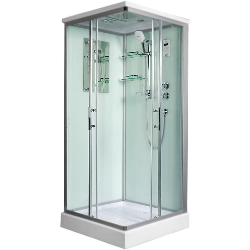 Душевая кабина WeltWasser WW500 Laine 1003 100x100 10000003266 профиль Хром стекло прозрачное