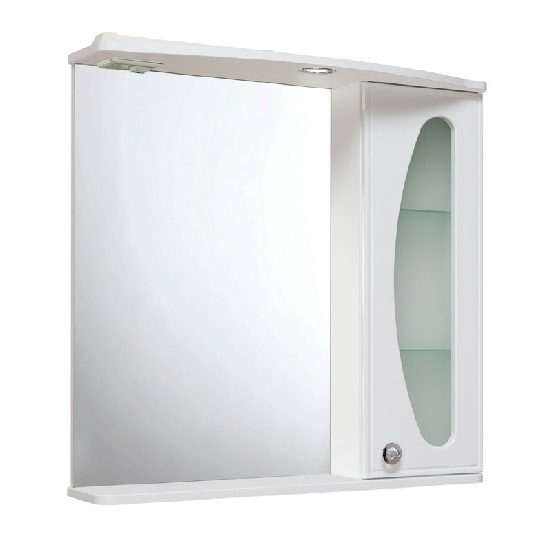 Зеркальный шкаф Runo Линда Люкс 75 правый Белый зеркальный шкаф runo линда 60 правый белый