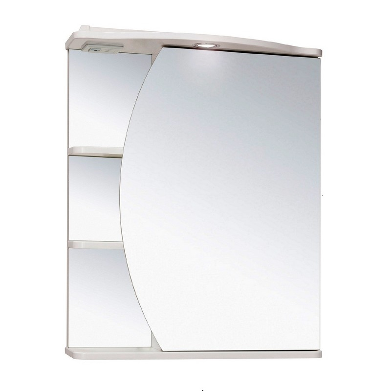 Зеркальный шкаф Runo Линда 60 правый Белый