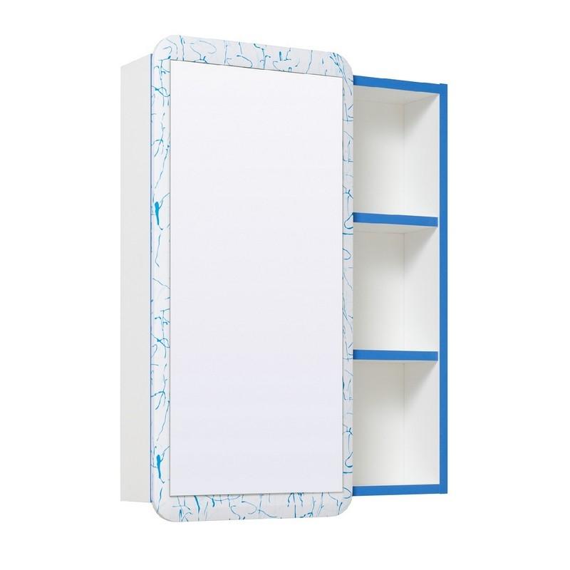 Зеркальный шкаф Runo Капри 55 УТ000003787 универсальный Синий