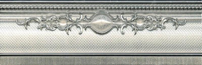 Керамический бордюр El Molino Yute Cenefa Plata-Perla 8х25 см керамическая плитка el molino hannover cen base plata рerla 8х25 бордюр
