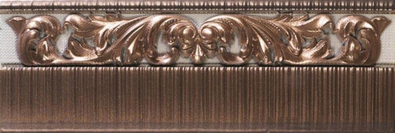 Керамический бордюр Ape Crayon Zocalo Bronze 12х31,6 см керамическая вставка ape crayon inserto bronze 10х14 см