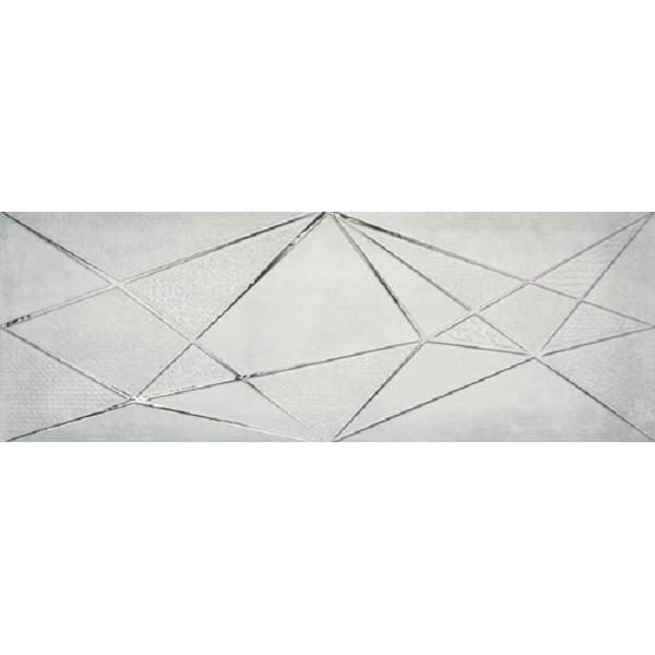 Керамический декор Ape Crea Zig Zag Grey 30х90 см цена 2017
