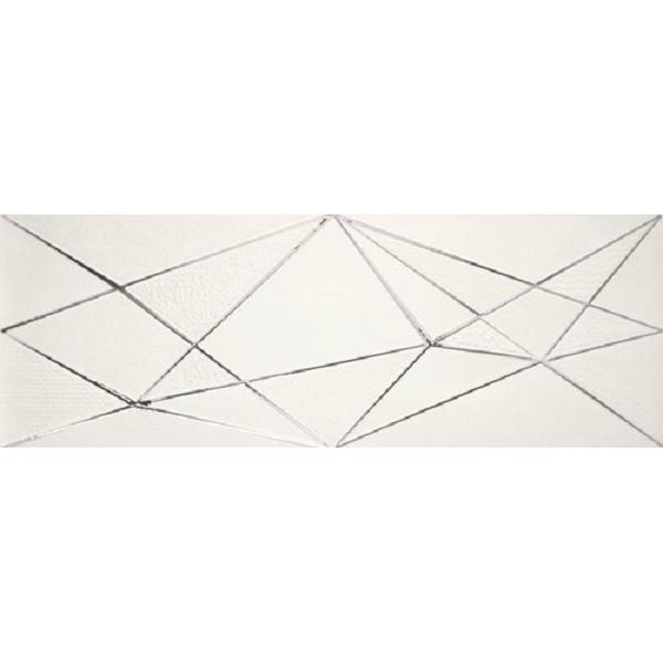 Керамический декор Ape Crea Zig Zag White 30х90 см керамический декор ape allegra decor link white 31 6x90см