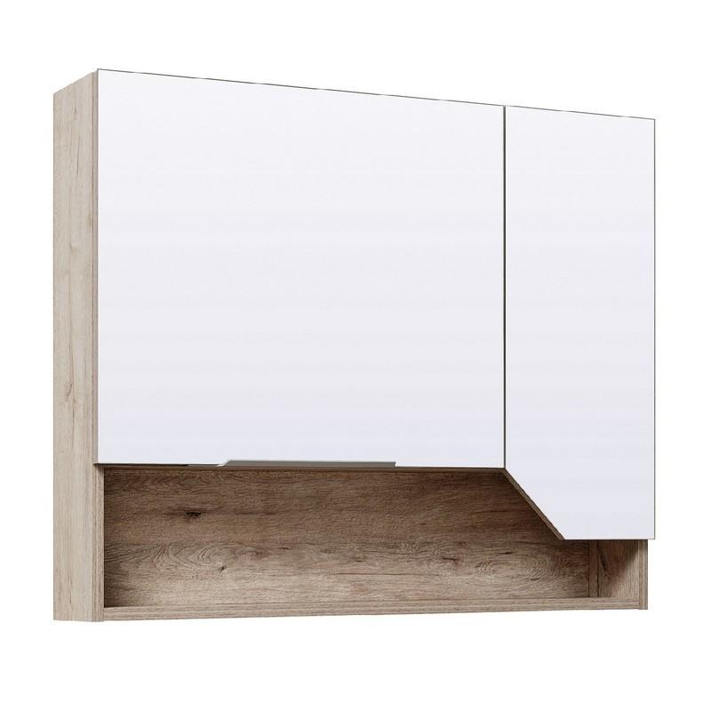 Зеркальный шкаф Runo Родос 85 правый Дуб Кантри