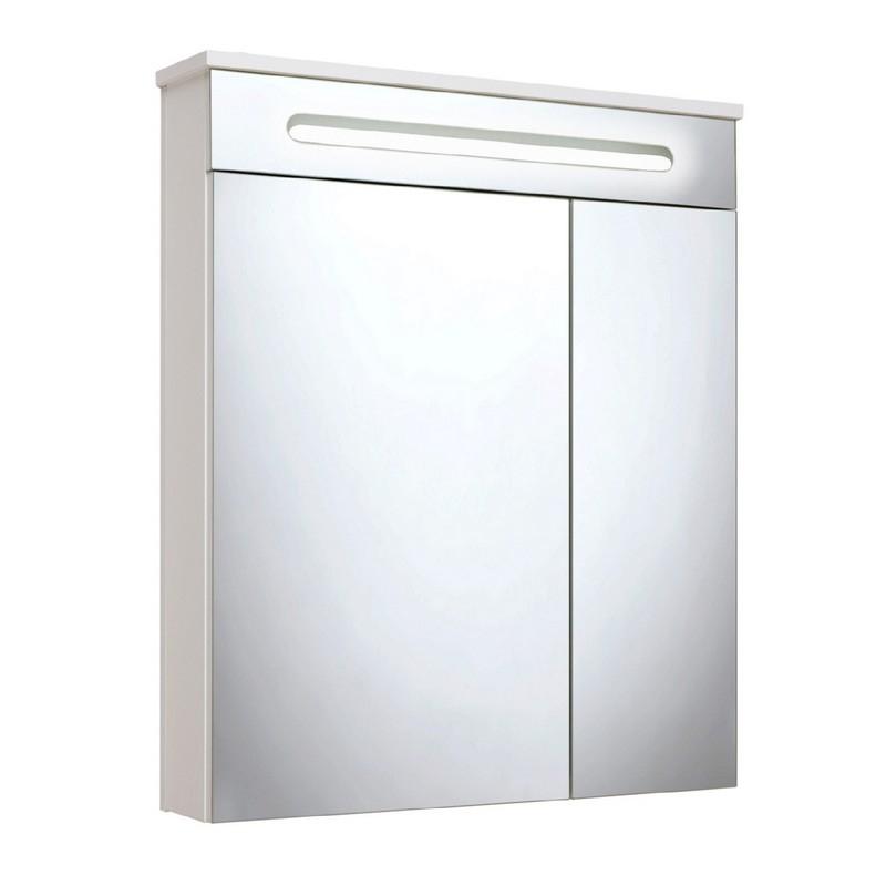Зеркальный шкаф Runo Парма 60 Белый