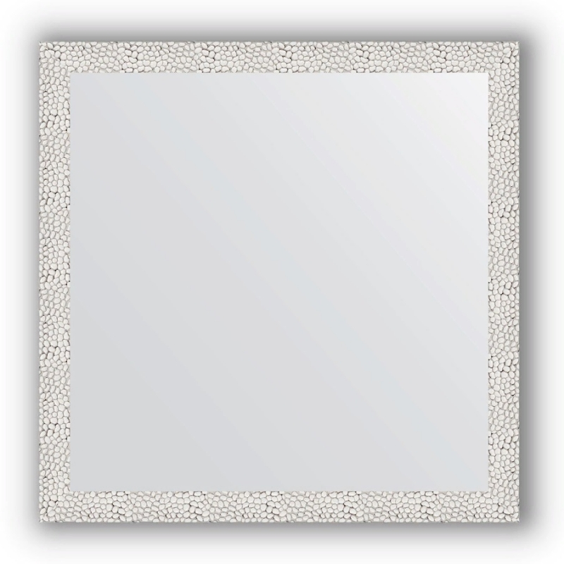Зеркало Evoform Definite 71х71 Чеканка белая