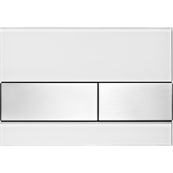 Кнопка смыва Tece Square 9240801 для унитаза Белая Нержавеющая сталь кнопка смыва tece square ii 9240832 для унитаза белая