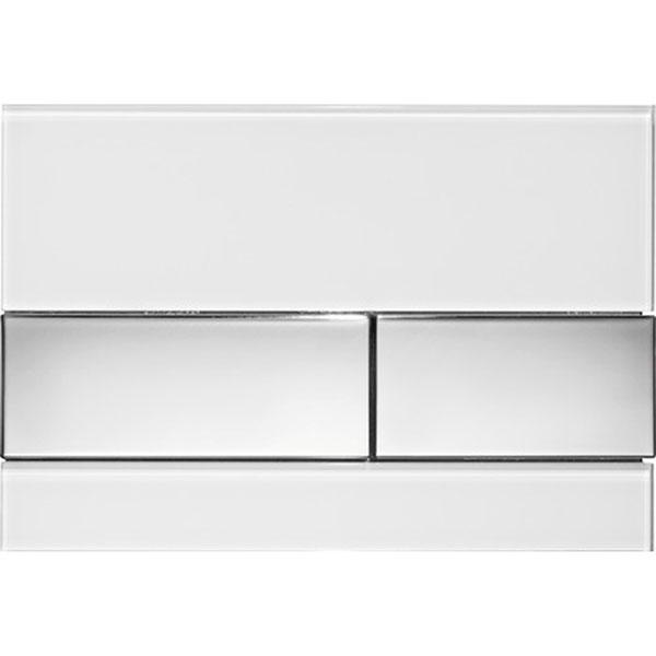 Кнопка смыва Tece Square 9240802 для унитаза Белая Хром глянцевый кнопка смыва tece square ii 9240832 для унитаза белая