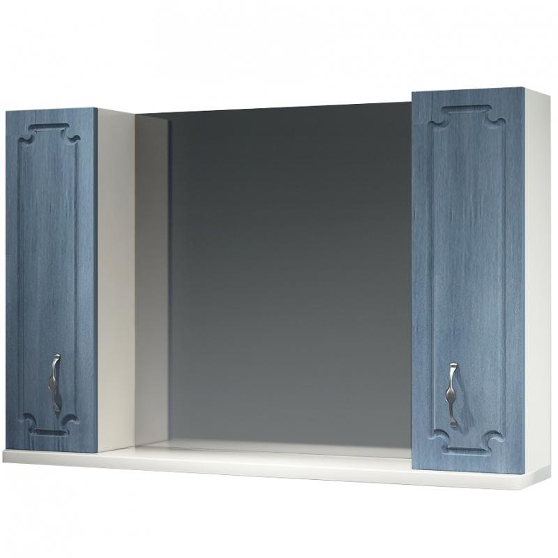 Зеркальный шкаф Какса-А Патина 105 003988 Голубой зеркальный шкаф какса а патина 83 003986 седой