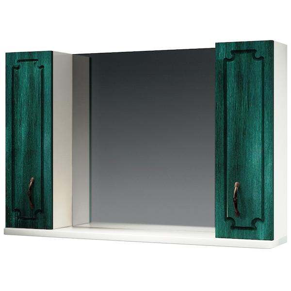 Зеркальный шкаф Какса-А Патина 105 003989 Зеленый зеркальный шкаф какса а патина 83 003986 седой