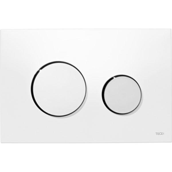 Кнопка смыва Tece Loop Plastic 9240627 для унитаза Белая Хром глянцевый кнопка смыва tece square ii 9240832 для унитаза белая